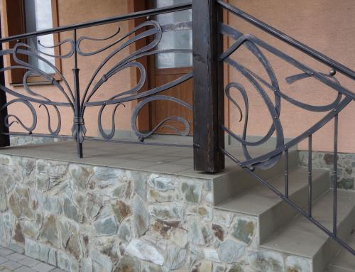 Kované zábradlie na schody